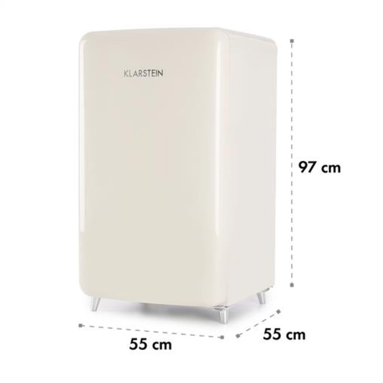 PopArt Cream Retro-Kühlschrank