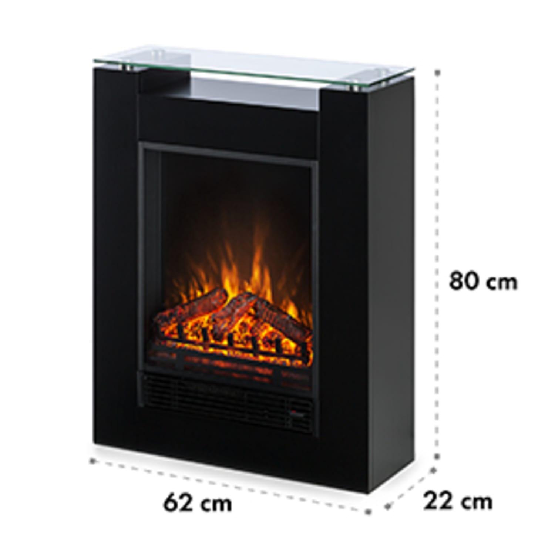Studio 5 Electric Fireplace Fan Heater 900/1800 W Black