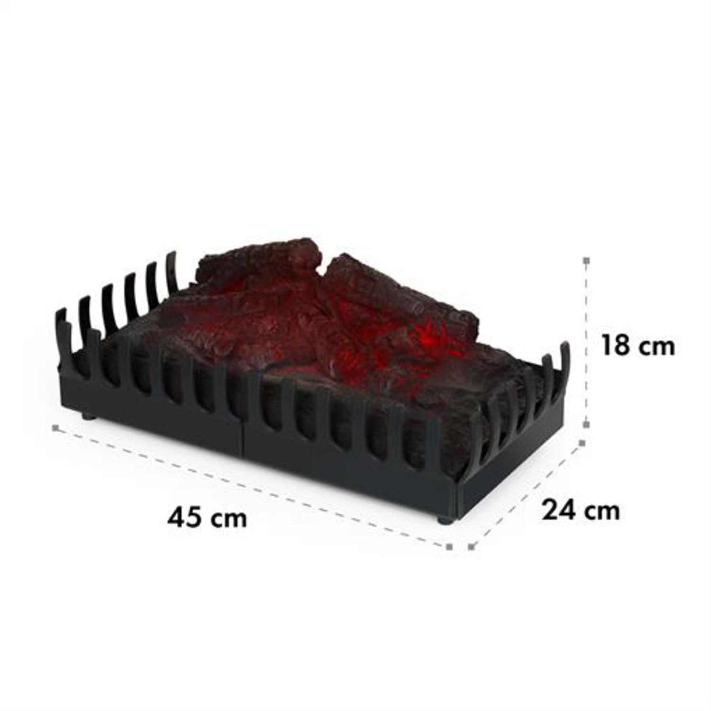 Kamini, elektrický krb, krbová vložka, 45 W, G9, čierny