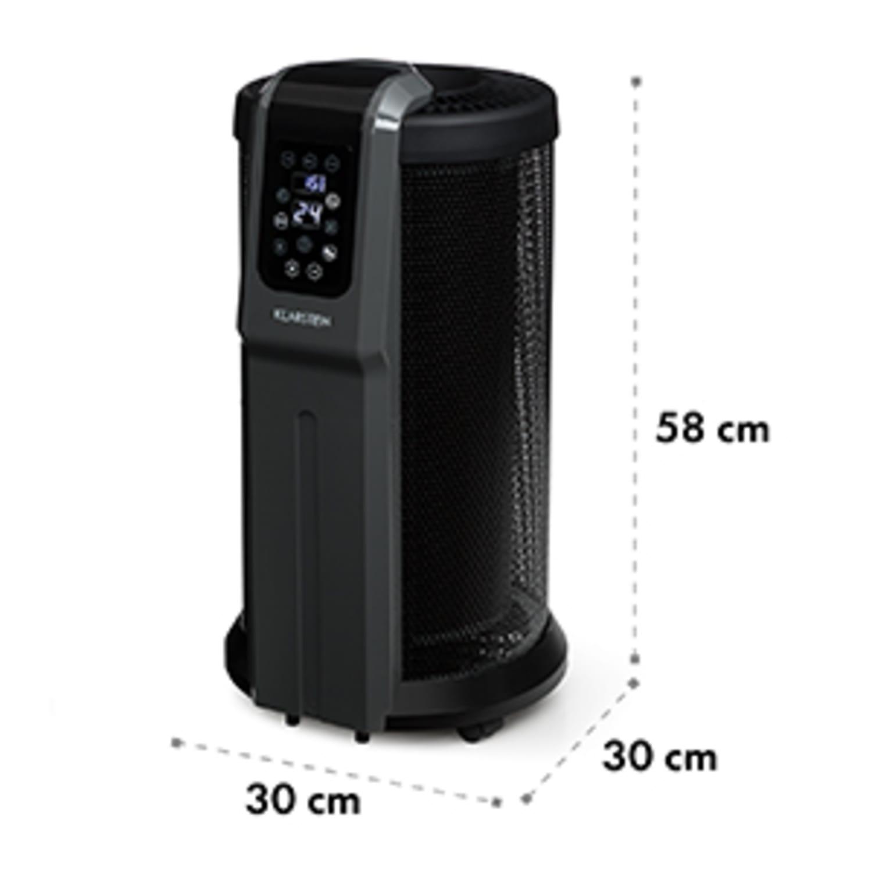 Datscha Digital verwarming afstandsbediening timer rollers 2200W zwart/grijs