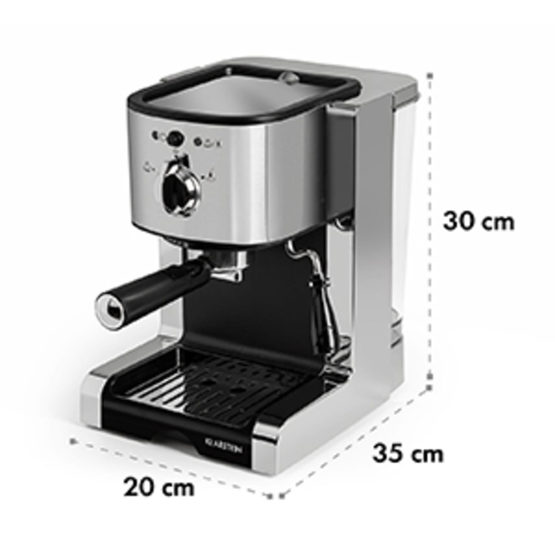 Passionata 15, espresso kavni aparat, 15 barov, Kapučino, mlečna pena, srebrne barve