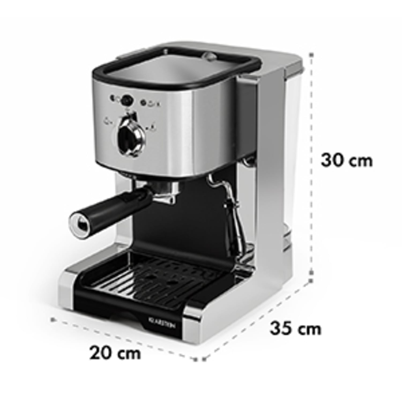 Passionata 20 aparat za espresso, 20 bar, cappuccino, mlečna pena, srebrna barva
