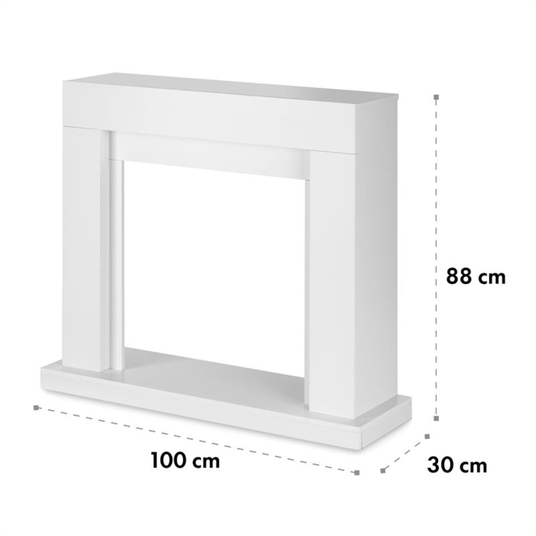 Studio Frame Fireplace Mantel Modern Design White