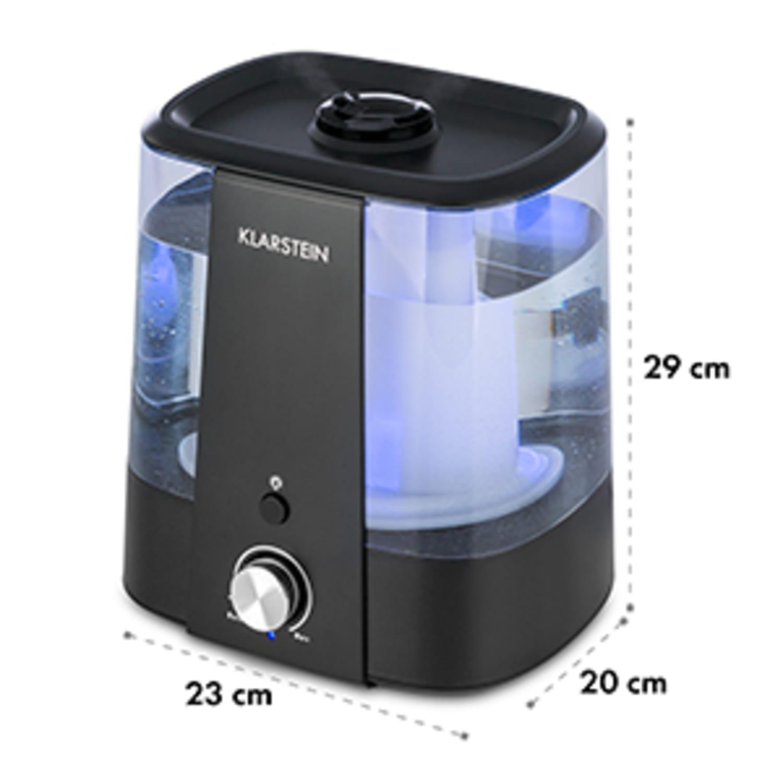 Toledo Ultraschall-Luftbefeuchter Aroma-Diffusor 6l LED-Licht schwarz