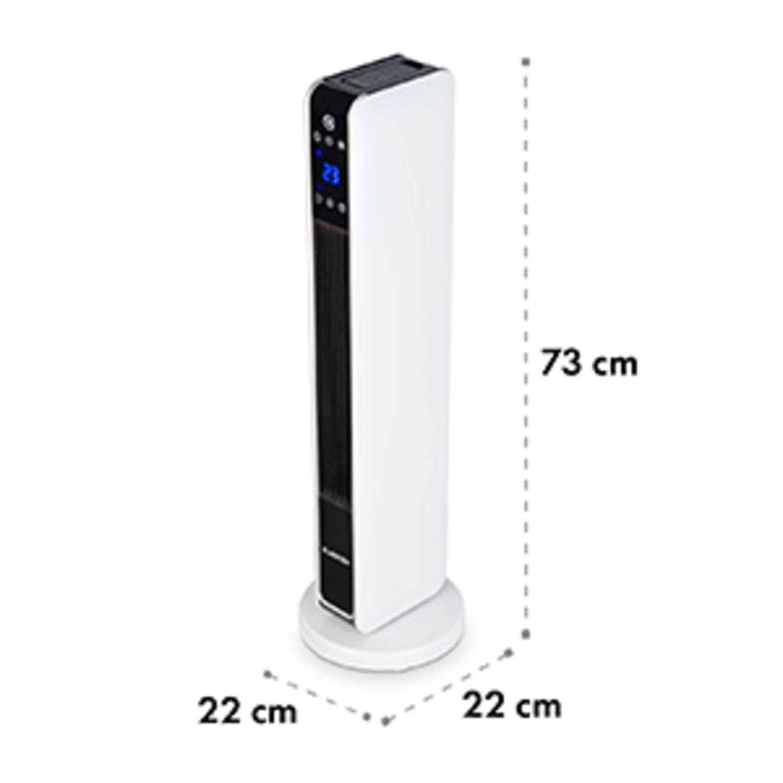 Hightower Heat, teplovzdušný ventilátor, keramický, stĺpový, 2200 W, termostat, 49 °C, biely