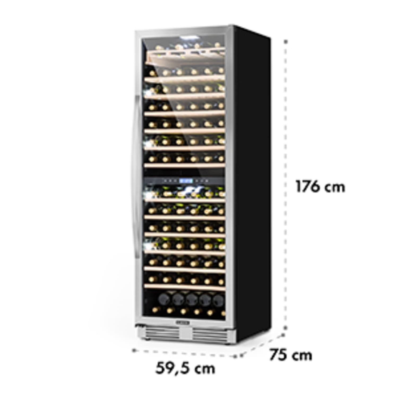 Vinovilla Grande 165 Built-in Duo Réfrigérateur à vin 425l 165Fl. Porte en verre 3 couleurs