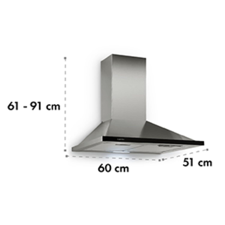 Galina páraelszívó, 60cm, 350m³/h, LED, nemesacél, akryl üveg