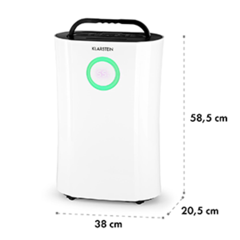 DryFy Pro , razvlažilnik zraka, kompresija, 20l/d 20m² , merilec časa, LED, bela