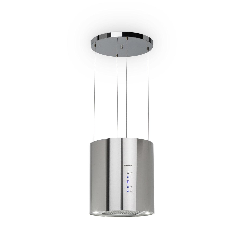 Hotte aspirante d'îlot Barett Ø35cm recirculation 558 m³/h LED filtre à charbon actif