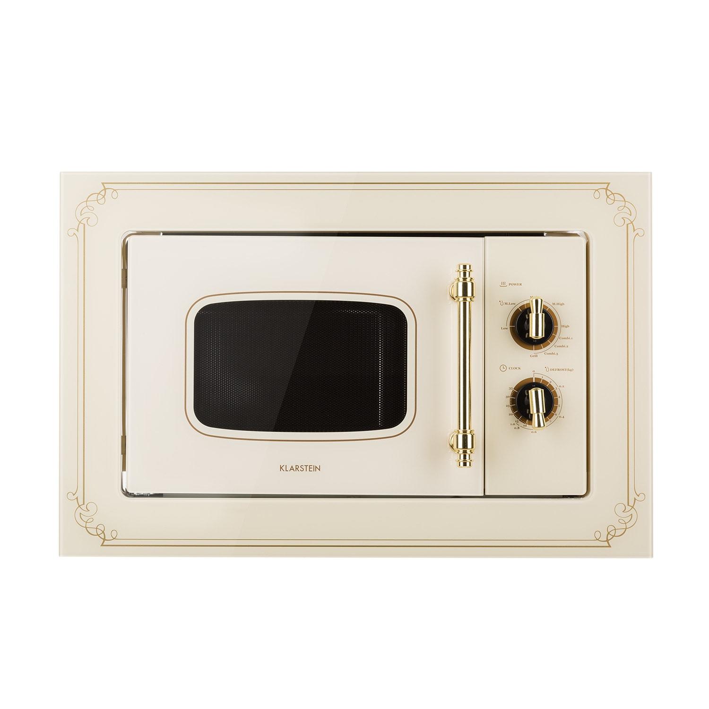 Victoria 20, beépíthető mikrohullámú sütő, 20 l, 800 W, grill: 1000 W, elefántcsont