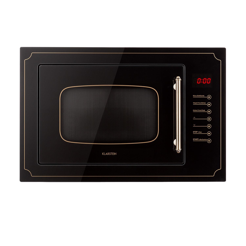 Victoria 25, beépíthető mikrohullámú sütő, 25 l, 900 W, grill: 1000 W, fekete