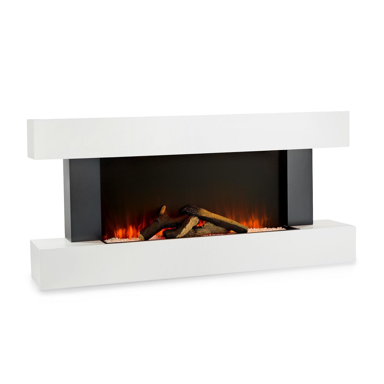 Studio Light & Fire 1 cheminée 1000/2000 W MDF télécommande blanche