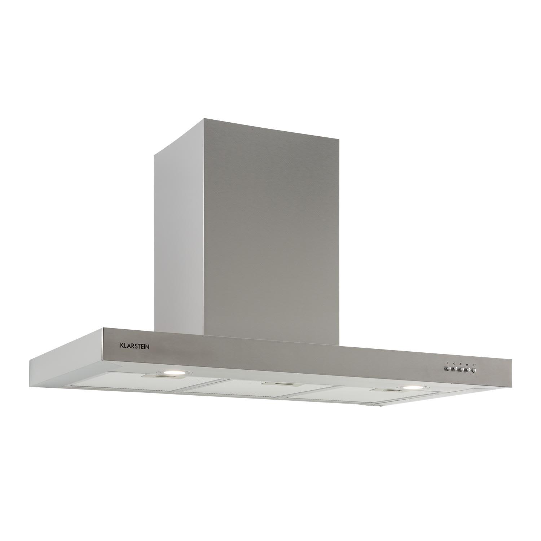 Zarah 90 hotte aspirante 90 cm air extrait : 600 m³/h LED inox
