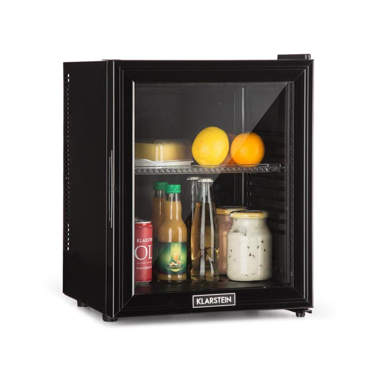Brooklyn 24L lodówka A LED wkład z plastiku szklane drzwi czarna