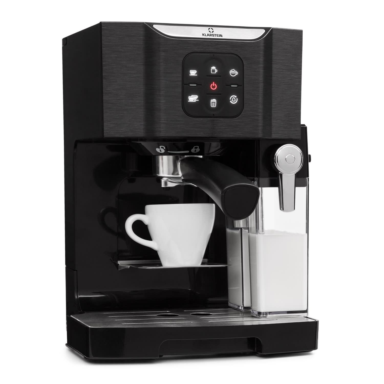 BellaVita Kaffemaskin, 1450 W, 20 Bar, Mjölkskummare, 3in1, svart