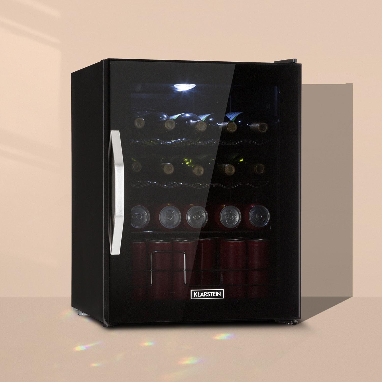Beersafe XL Onyx Kühlschrank 60 Liter 4 Böden Panoramaglastür