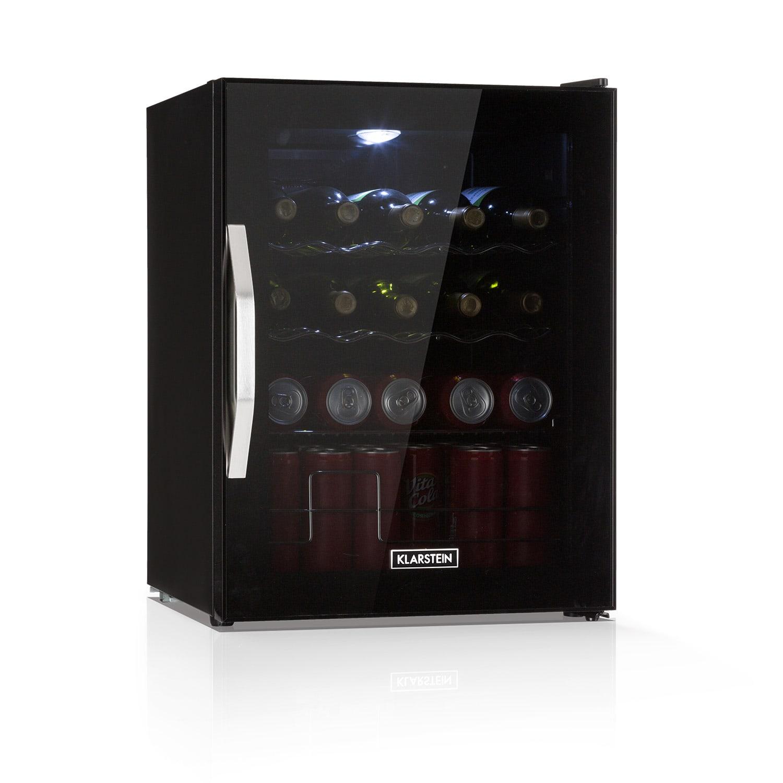 Beersafe XL Onyx refrigerator 60 lites 4 shelves panorama glass door