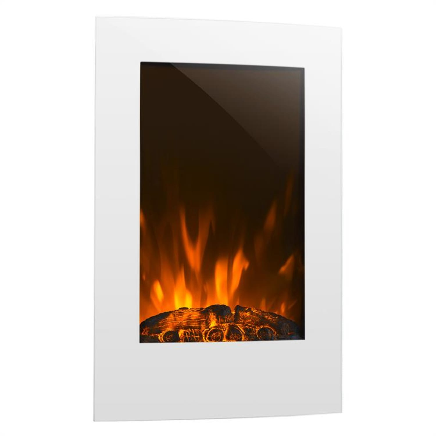 Lausanne Vertical Electric fireplace 2000W Weekly Timer White