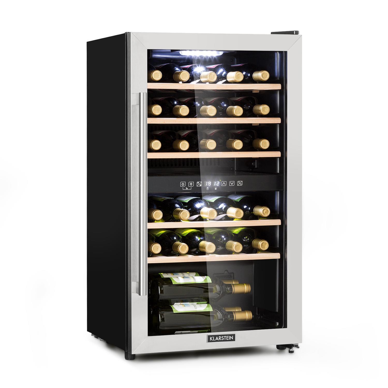 Vinamour 29D Weinkühlschrank 2 Zonen 80 Liter / 29 Flaschen 5-22°C Touch Panoramatür