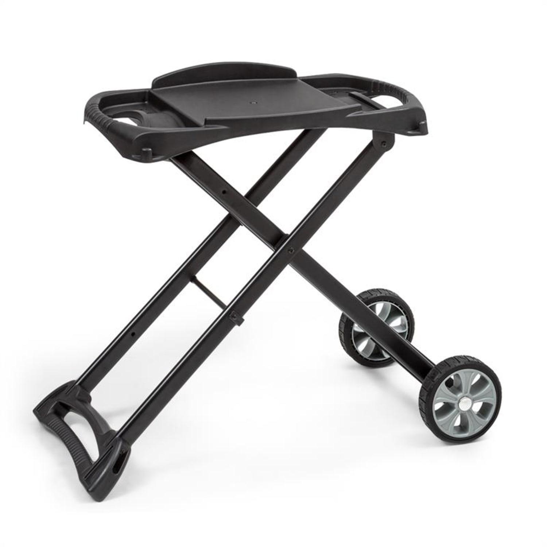 Parforce Stand, grillező állvány, tartozék, PE kerekek, összecsukható, fekete