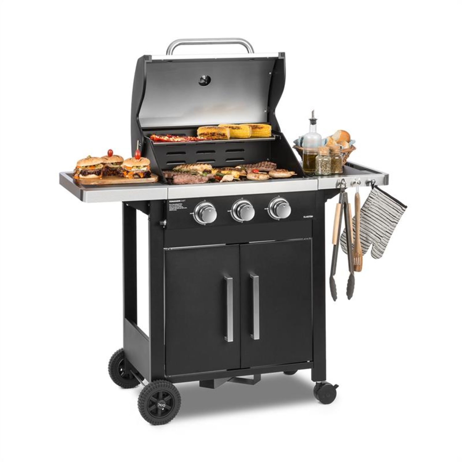 Tomahawk 3.0 T Gas Grill 3 x 3.2 kW Burner 53x39cm Grill Stainless Steel