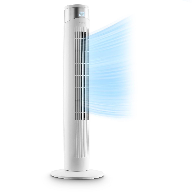 Storm Tower ventilateur 3 types de vent 55 W 6 vitesses blanc