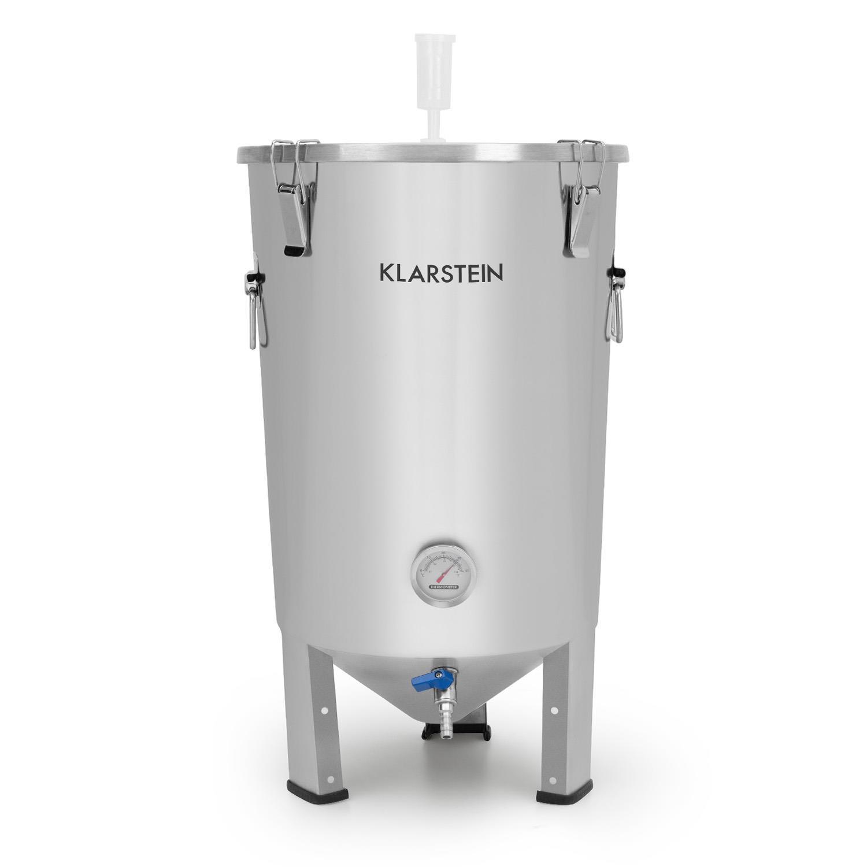 Gärkeller paiolo di fermentazione 30 l tubicino di fermentazione termometro acciaio inox 304