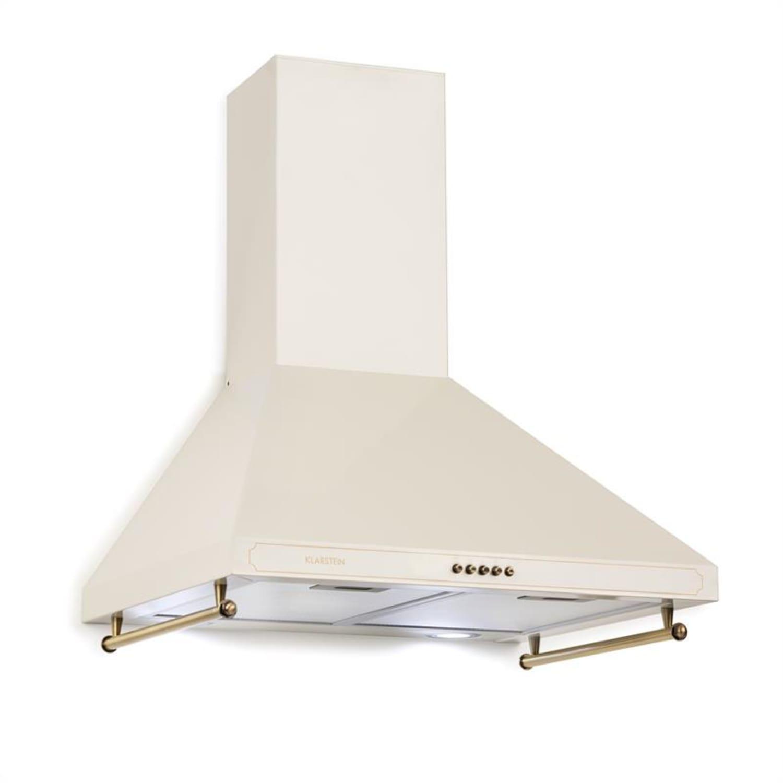 Victoria Hotte aspirante 60cm, design rétro, 645m³/h, LED, Ivoir