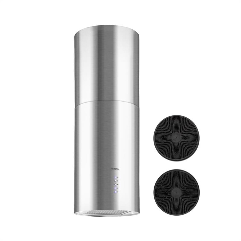 Beretta, otočna napa, Ø49,5cm, recirkulacija, 650m³/h, LED, nerjaveče jeklo