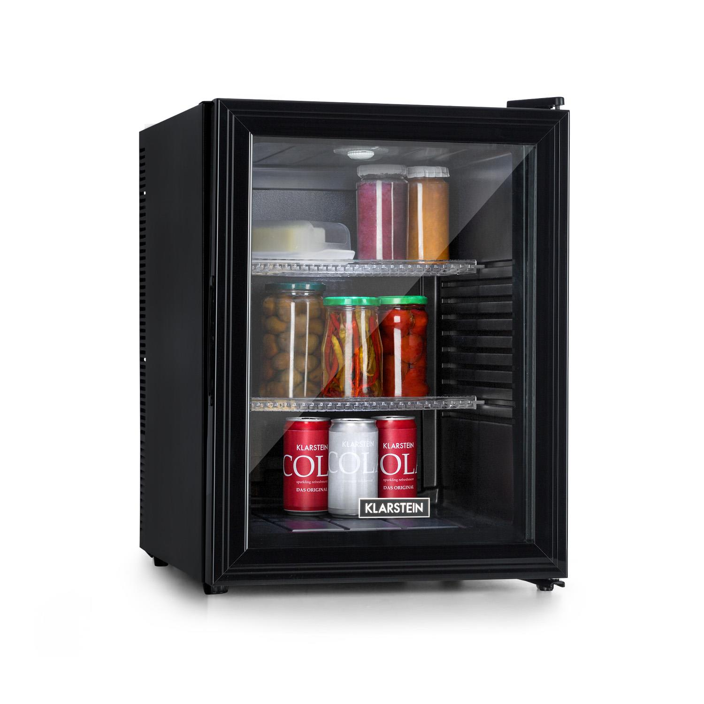 Brooklyn 42, lodówka, klasa efektywności energetycznej A, drzwi szklane, czarne wnętrze, kolor czarny