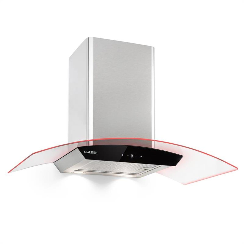 Gloria, kuhinjska napa, sesanje pare, 90 cm, 580 m³/h, RGBI, srebrna/črna