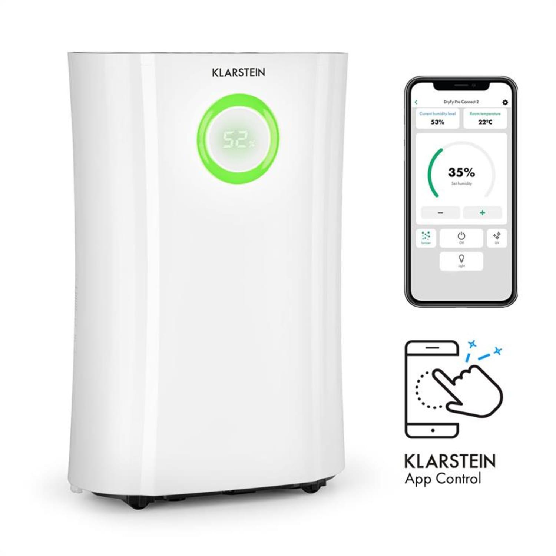 DryFy Pro Connect, razvlažilec zraka, WiFi, kompresija, 20 l/d, 20 m², 370 W, bel