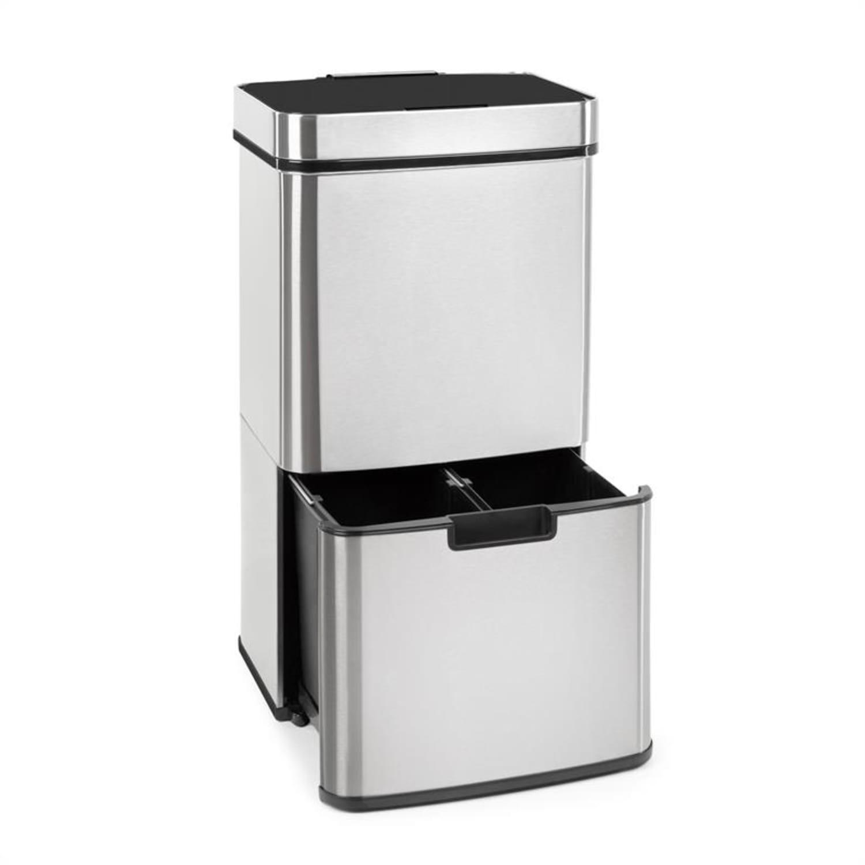 Touchless Müllsammler Sensor 72L 4 Behälter ABS / PP / Edelstahl gebürstet