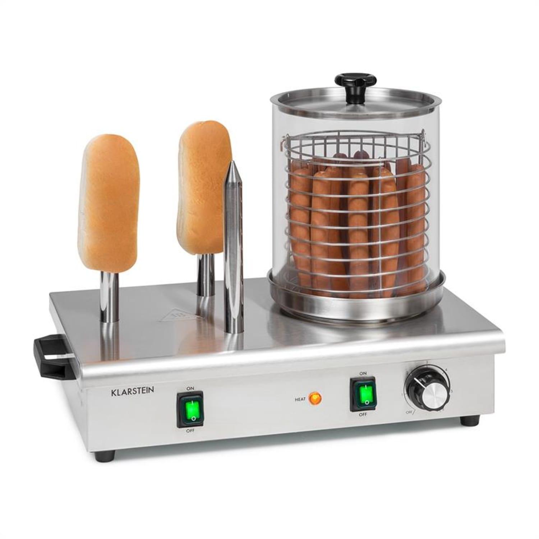 Wurstfabrik 600 Hot Dog Maker 600W 3 Heizspieße 5L 30-100°C Glas Edelstahl