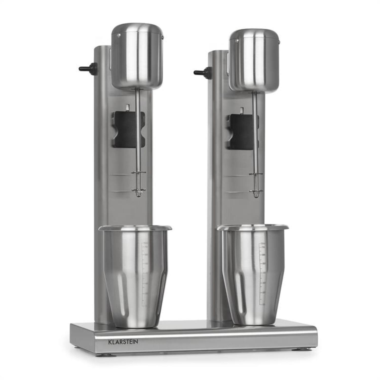 Kraftpaket II, mixer dublu pentru cocktail-uri de lapte, cocktail-uri de proteine, 160 W, oțel inoxidabil