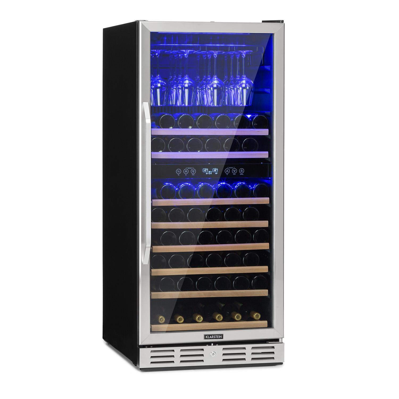 Vinovilla 116D Frigo per Vini 313L 116 Bottiglie Acciaio Inox