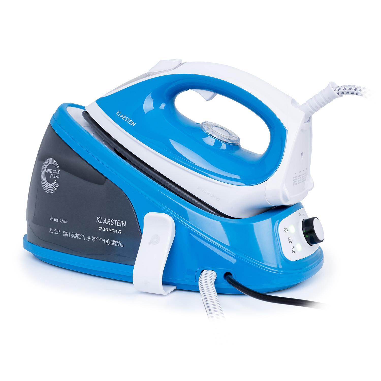 Speed Iron V2 Fer à repasser à vapeur 2100 W 1100 ml blanc / bleu