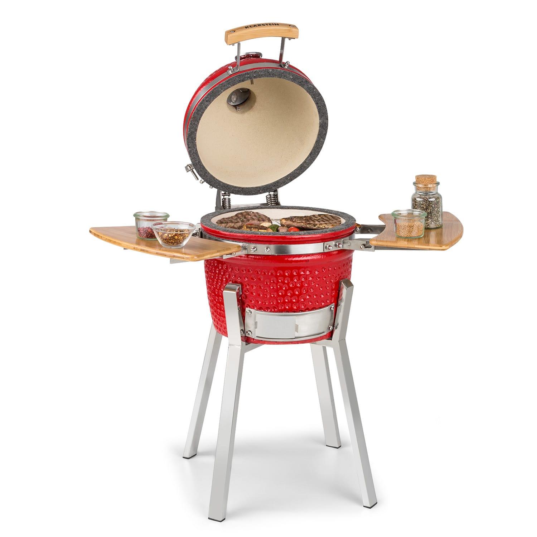 """Princesize Pro -kamado-grilli 13"""" (33 cm) lämpömittari sivuosat punainen"""