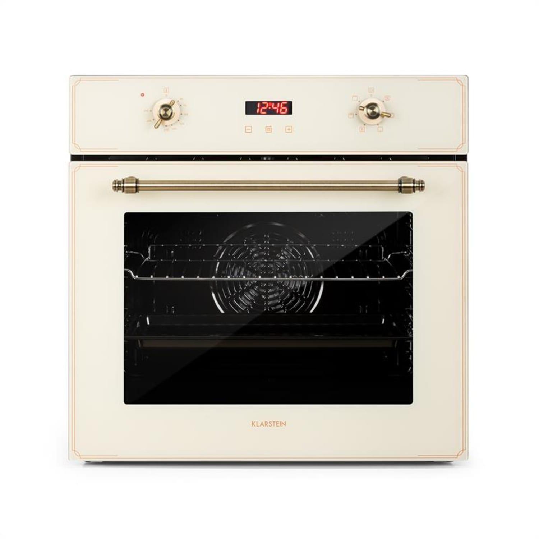 Elizabeth, beépíthető sütő, retro dizájn, 6 funkció, 50 - 250 ° C, krém színű