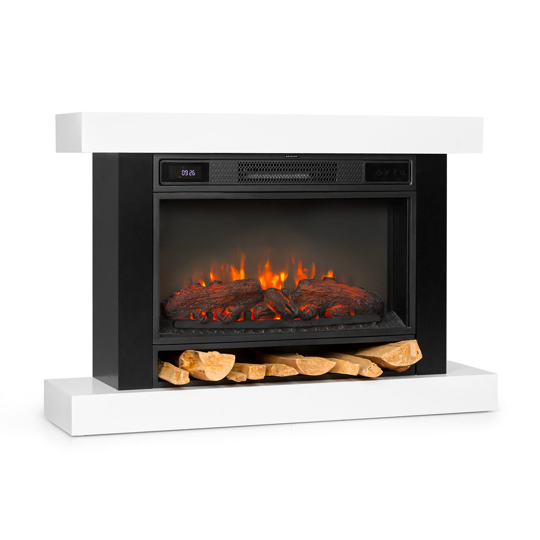 Vulsini Nightfall Electric Fireplace 1900 W LED Technology Remote Control white