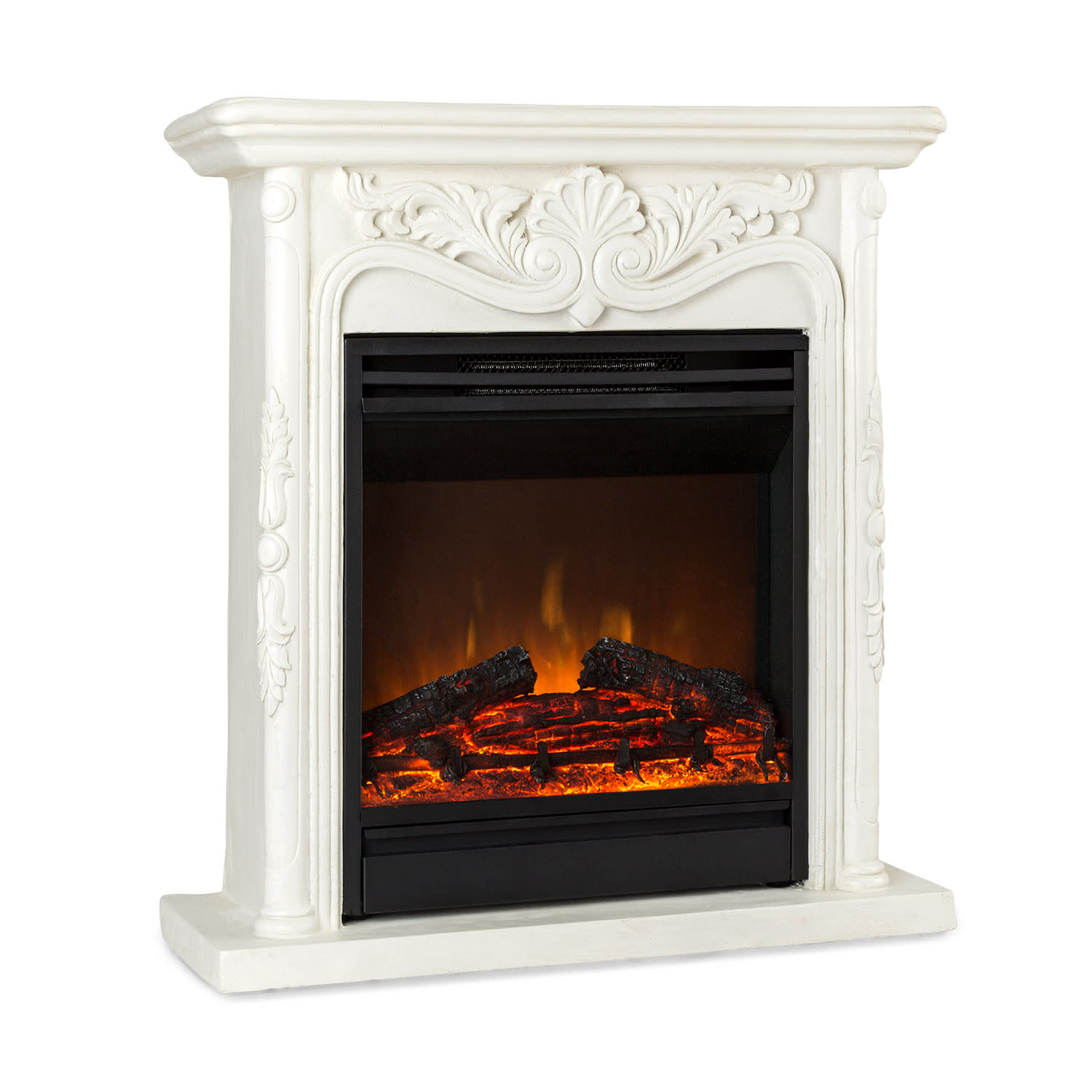 Etna Pozzolana Electric Fireplace 1800W Weekly Timer Remote Control White