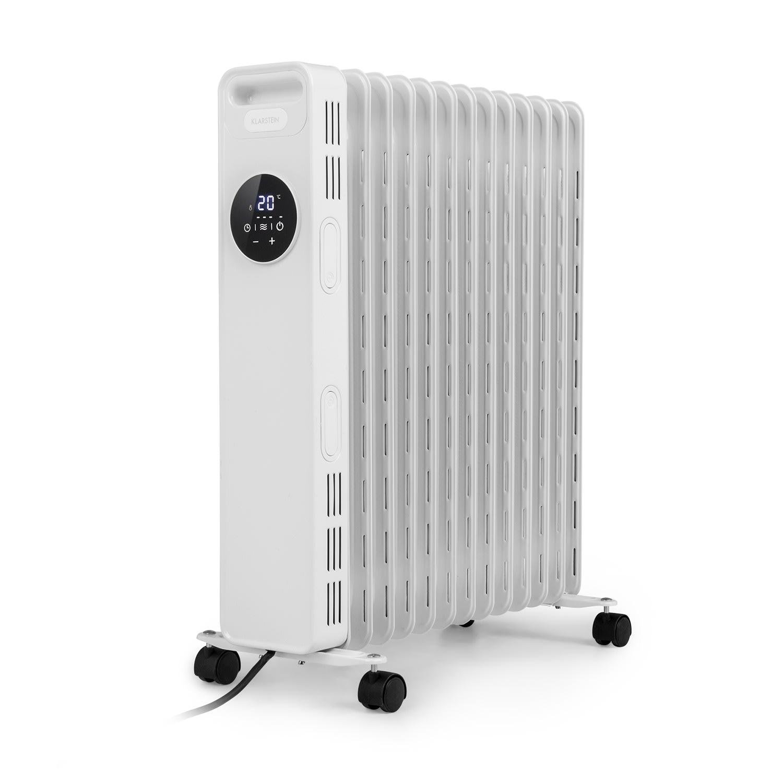 Thermaxx Heatstream, olejový radiátor, 2500 W, 5 – 35 °C, 24-hod. časovač, biely