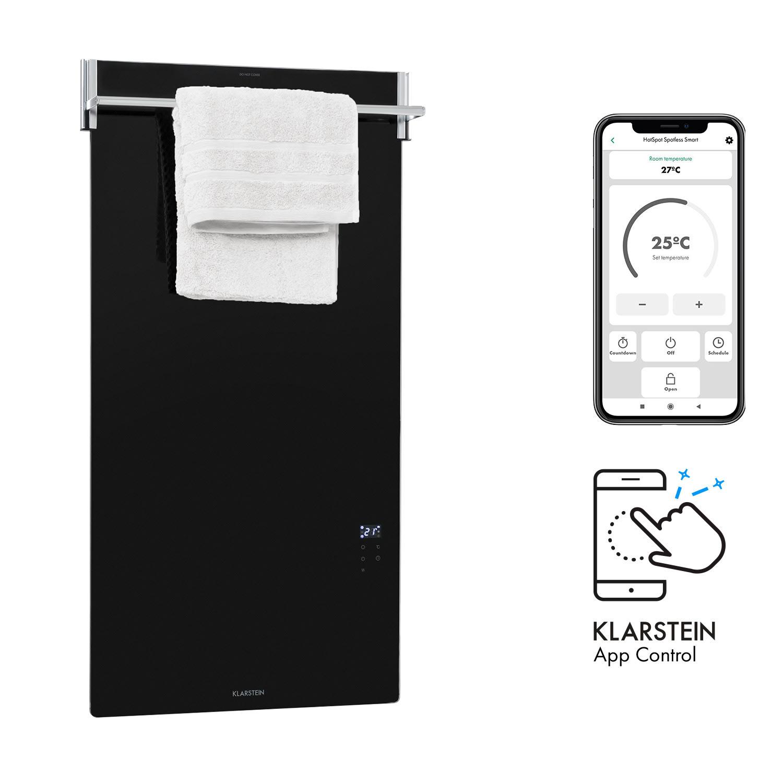 Hot Spot Crystal Spotless Smart, infračervený ohrievač, 750 W, aplikácia, čierny