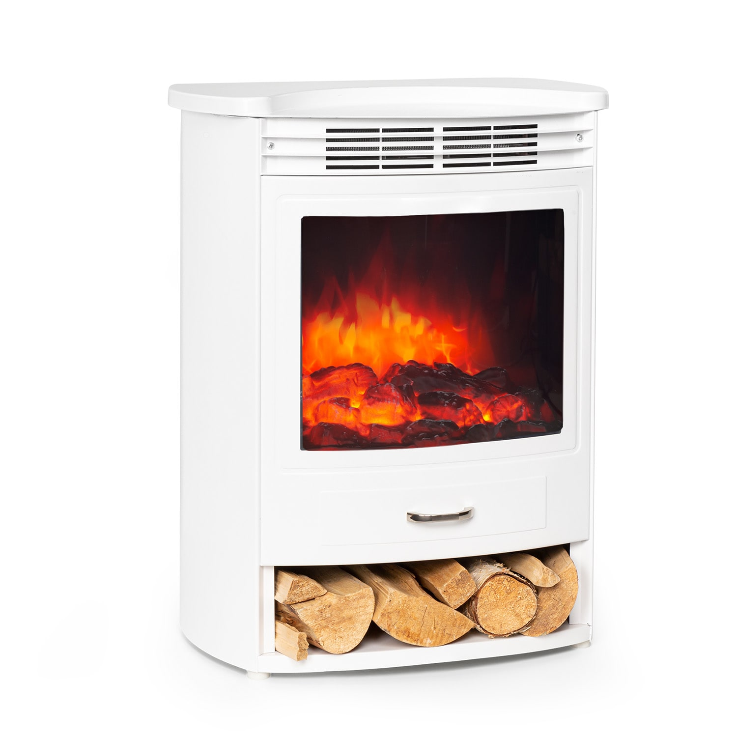 Bormio S WH, Electric Fireplace, 950 / 1900W, Thermostat, Weekly Timer, White