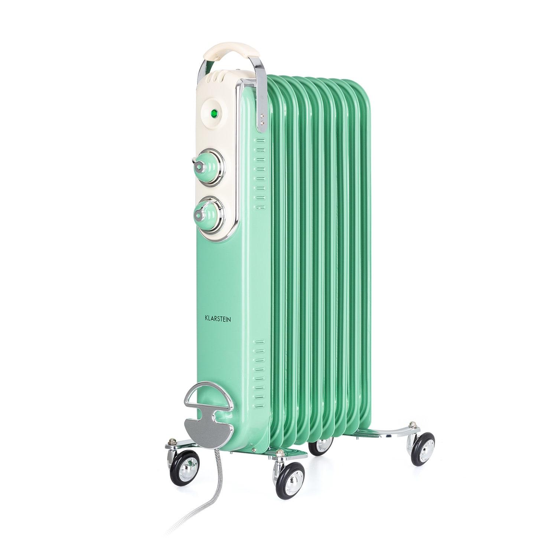 Thermaxx Retroheat, olejový radiátor, 2000 W, kolieska, zelený