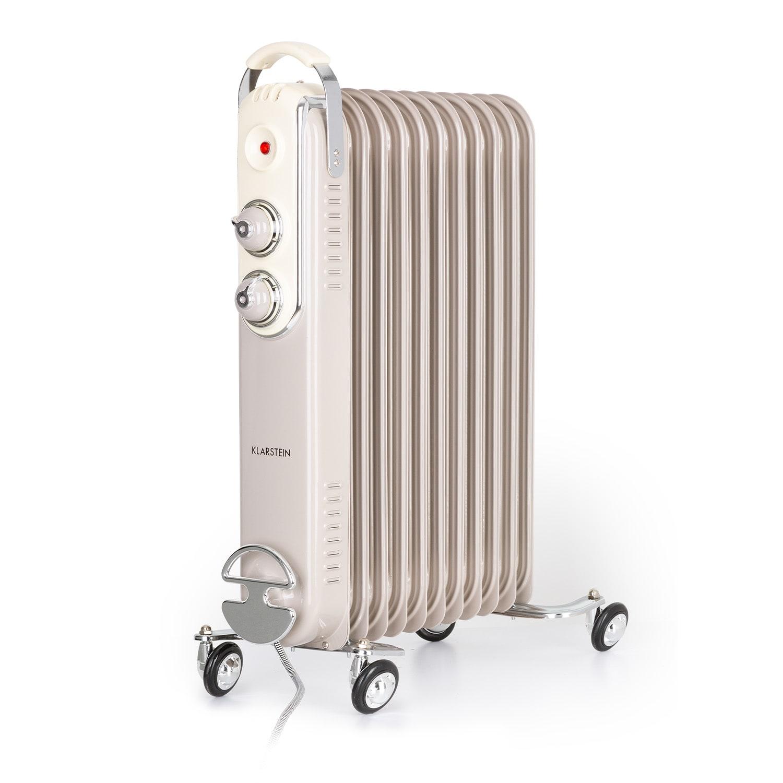 Thermaxx Retroheat, olejový radiátor, 2500 W, kolieska, sivohnedý (taupe)