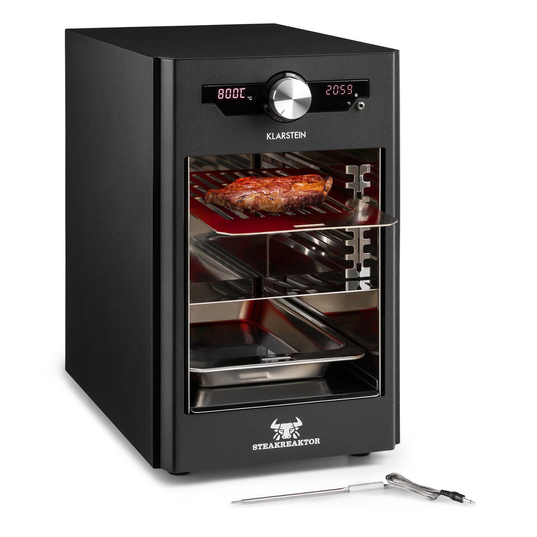 Steakreaktor Core, magas hőmérsékletű grill, 2100 W, 800 °C, beszúró hőmérsékletmérő