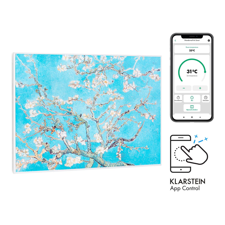 Wonderwall Air Art Smart, infračervený ohřívač, 80 x 60 cm, 500 W, aplikace, mandlový květ