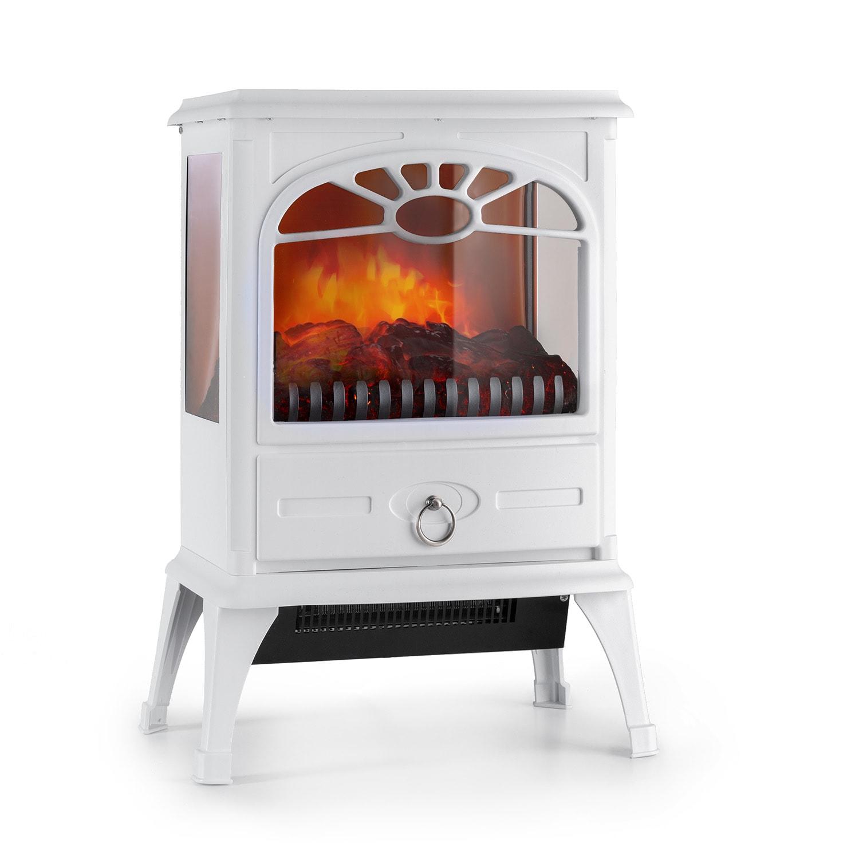 Leoben, elektrický krb, 900/1800 W, termostat, PanoramaView, bílý