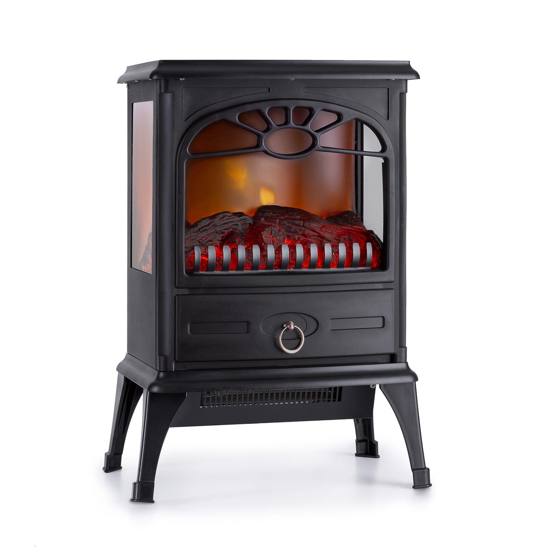 Leoben, Electric Fireplace, 900/1800 W, Thermostat, PanoramaView, Black